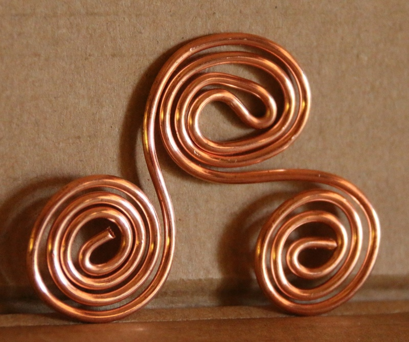 Sacred Cubit Copper Triskelion - Water Charger