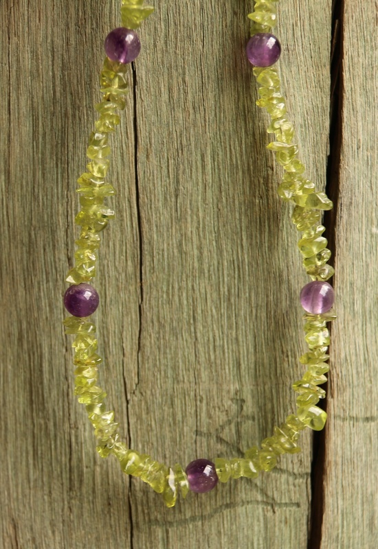 239. Peridot and Amethyst Necklace