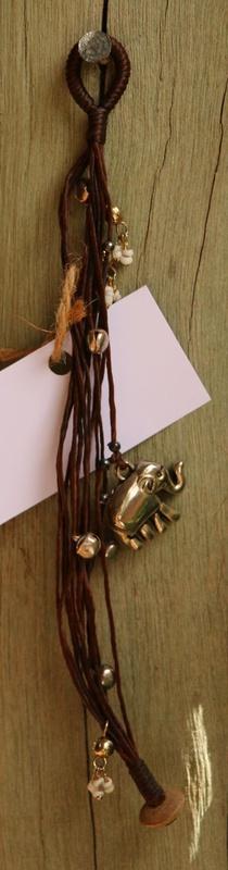 475. Upcycled Elephant Charm Bracelet