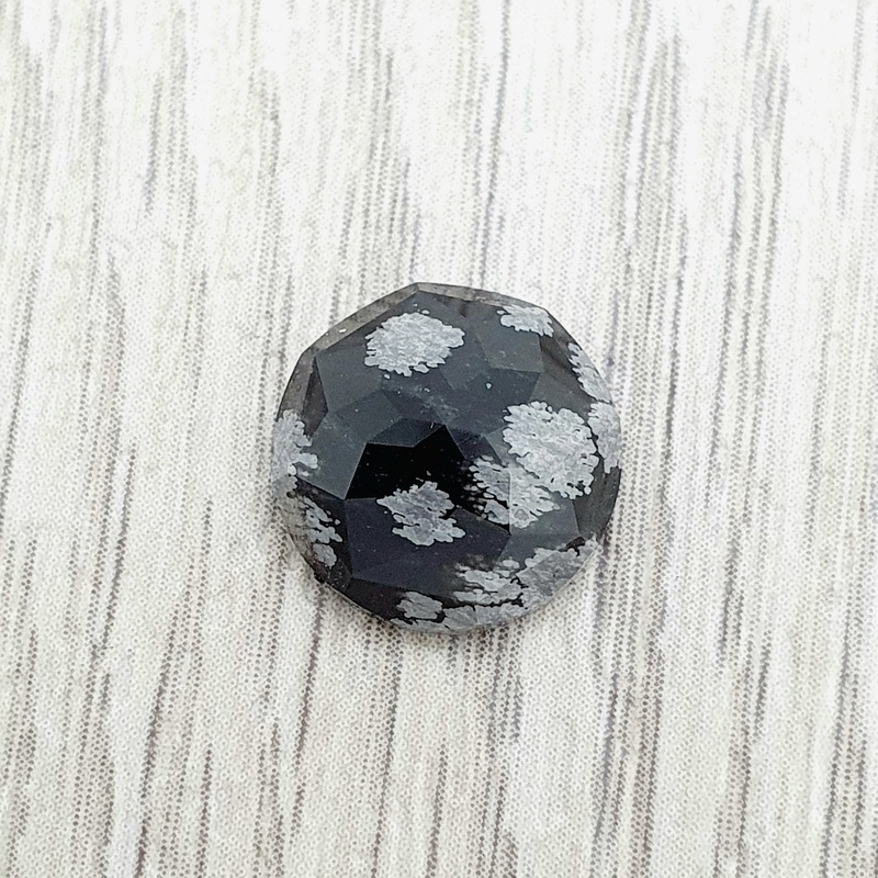 Snowflake Obsidian Faceted Cabochon