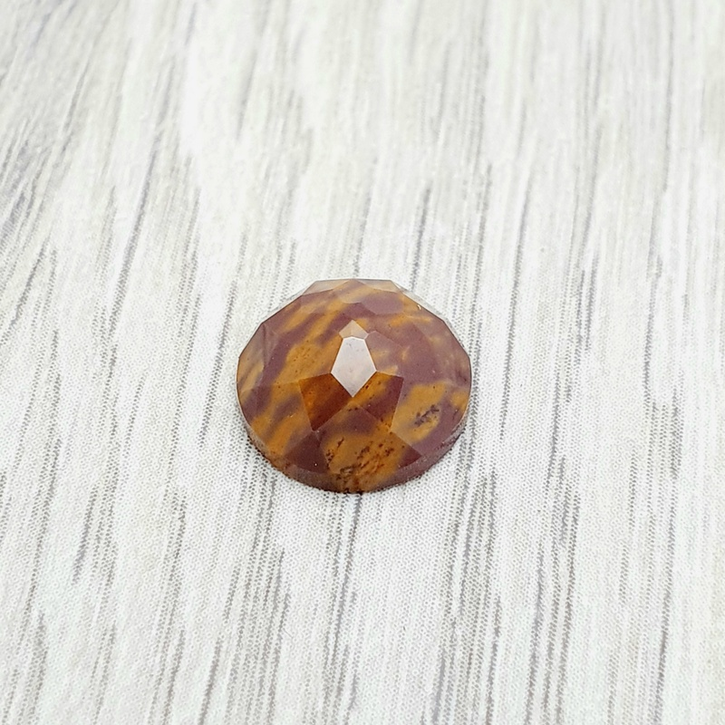 Mookaite Faceted Cabochon
