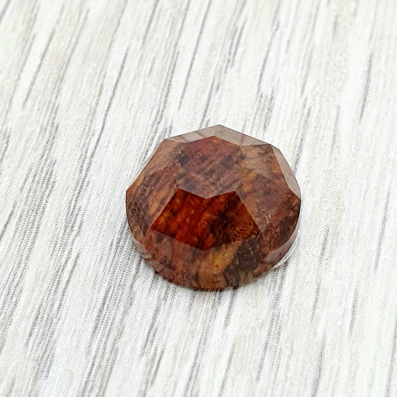 Petrified Fossil wood Faceted Cabochon