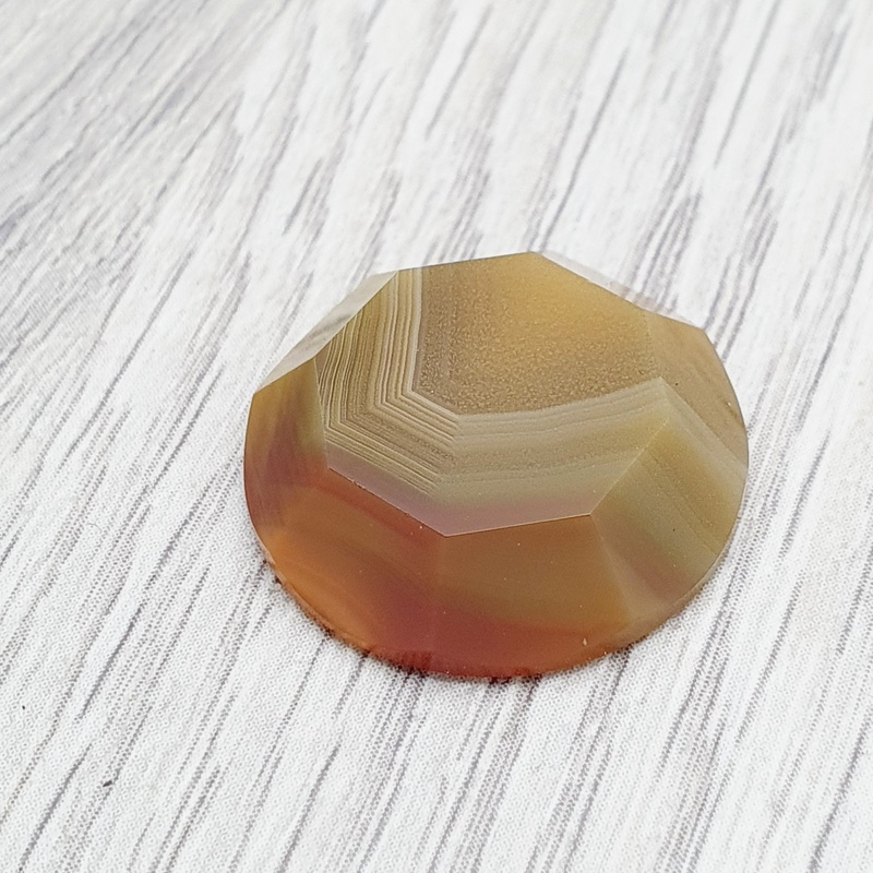 Agate Faceted Cabochon