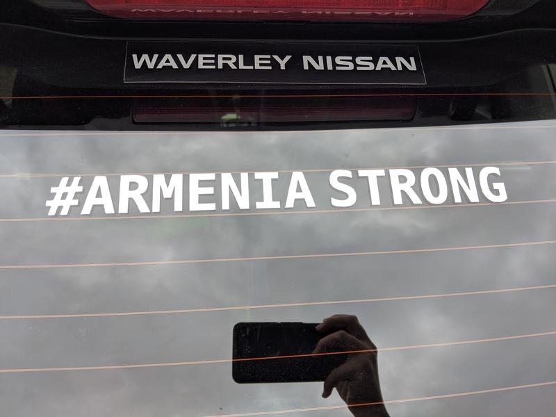ARMENIA STRONG car sticker