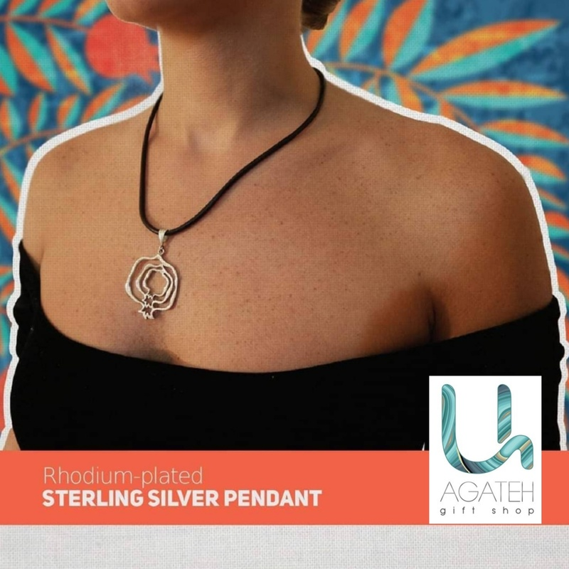 Rhodium plated silver pendant 1 (made in ARTSAKH)
