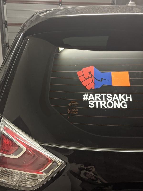 #ARTSAKHSTRONG car decal