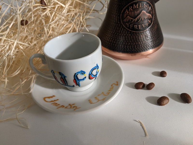 Ceramic coffee cups - set of 6 - Aypoupen