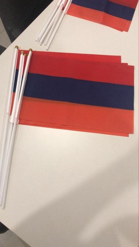 Flag 14*21cm  Armenia or Artsakh